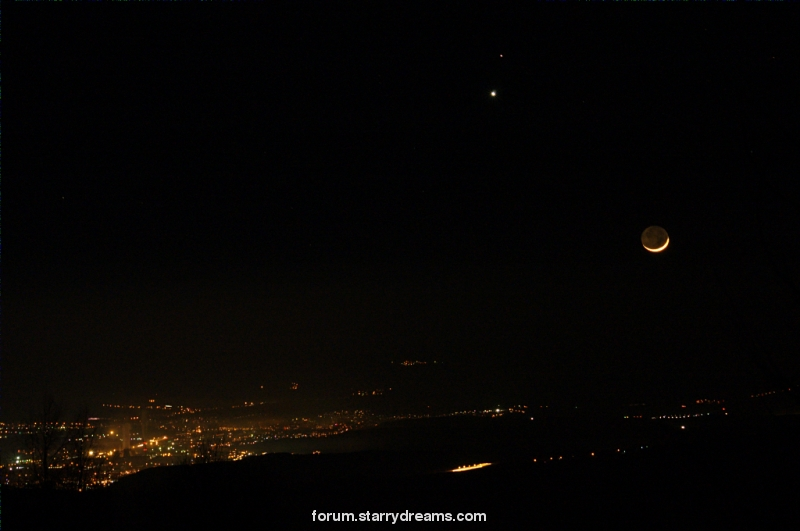 Mars, Venus and Moon
