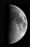 Moon First-quarter in the dusk of 21.1o.2oo4
